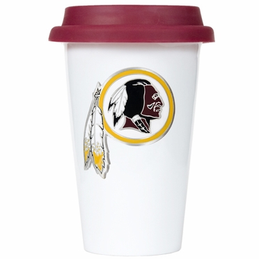 Washington Redskins Ceramic Travel Cup (Team Color Lid)