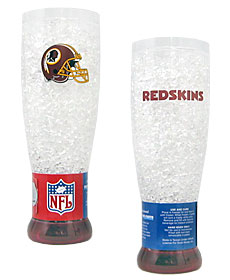 Washington Redskins Crystal Pilsner Glass