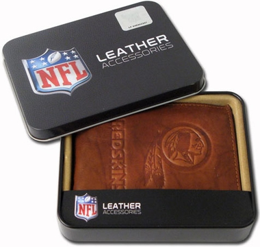 Washington Redskins Embossed Leather Bifold Wallet