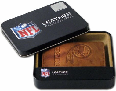 Washington Redskins Embossed Leather Trifold Wallet