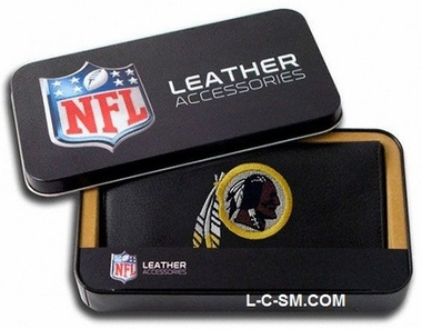 Washington Redskins Embroidered Leather Checkbook Cover