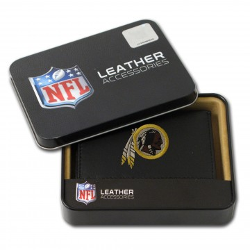 Washington Redskins Embroidered Leather Tri-Fold Wallet