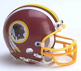 Washington Redskins Replica Mini Helmet w/ Z2B Face Mask