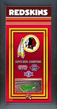 Washington Redskins Framed Championship Banner