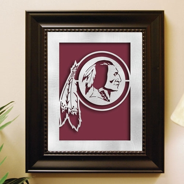 Washington Redskins Framed Laser Cut Metal Wall Art