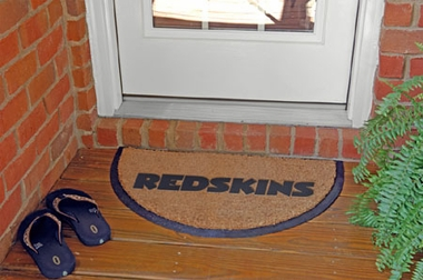 Washington Redskins Half Moon Door Mat