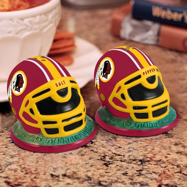 Washington Redskins Helmet Ceramic Salt and Pepper Shakers