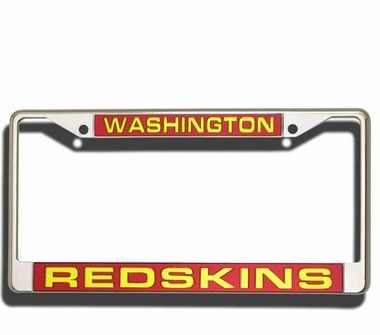 Washington Redskins Laser Etched Chrome License Plate Frame