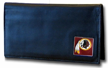 Washington Redskins Leather Checkbook Cover (F)