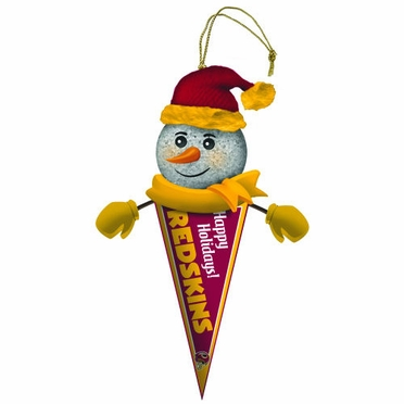 Washington Redskins Light Up Snowman Pennant Ornament (Set of 3)