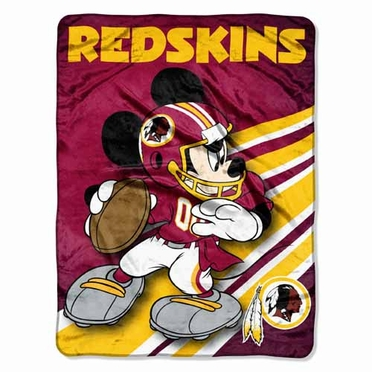 Washington Redskins Mickey Mouse Microfiber Throw