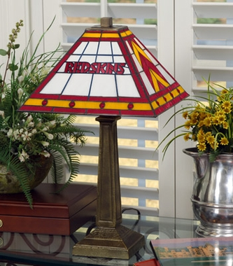 Washington Redskins Mission Lamp