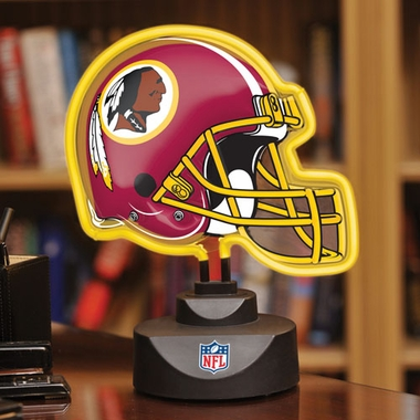 Washington Redskins Neon Display Helmet