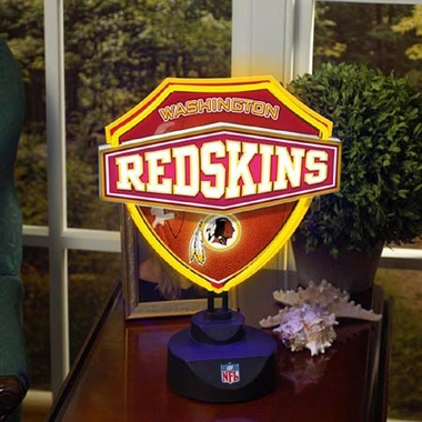 Washington Redskins Neon Shield Table Lamp