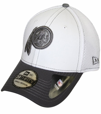 Washington Redskins New Era 39THIRTY Blitz Neo Fitted Hat - Gray
