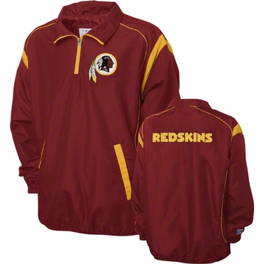 Washington Redskins NFL Red Zone 1/4 Zip Red Jacket