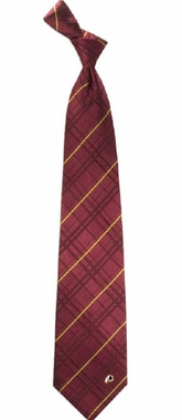 Washington Redskins Oxford Stripe Woven Silk Necktie