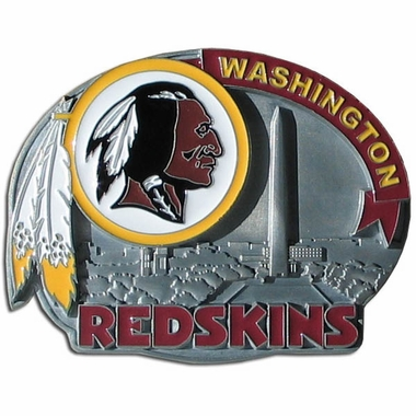 Washington Redskins Enameled Belt Buckle