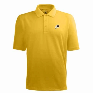 Washington Redskins Mens Pique Xtra Lite Polo Shirt (Color: Gold)