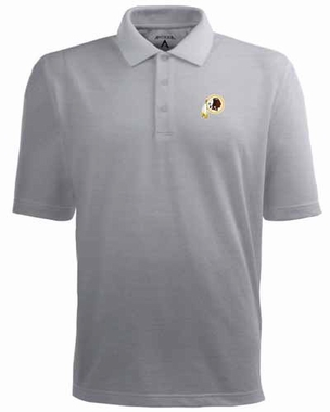 Washington Redskins Mens Pique Xtra Lite Polo Shirt (Color: Gray)