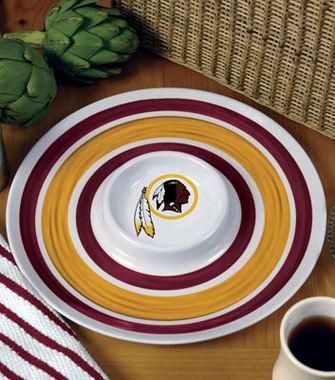 Washington Redskins Plastic Chip and Dip Plate