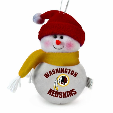 Washington Redskins Plush Snowman Ornament (Set of 3)