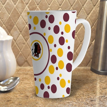 Washington Redskins Polkadot 16 oz. Ceramic Latte Mug