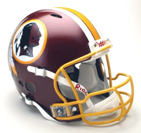 Washington Redskins Riddell Full Size Authentic Revolution Helmet