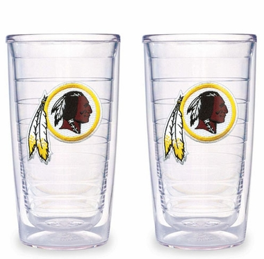 Washington Redskins Set of TWO 16 oz. Tervis Tumblers