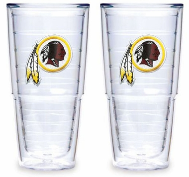 "Washington Redskins Set of TWO 24 oz. ""Big T"" Tervis Tumblers"