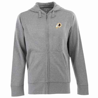 Washington Redskins Mens Signature Full Zip Hooded Sweatshirt (Color: Gray)