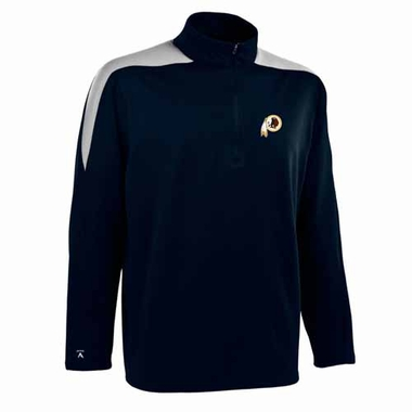 Washington Redskins Mens Succeed 1/4 Zip Performance Pullover (Color: Smoke)