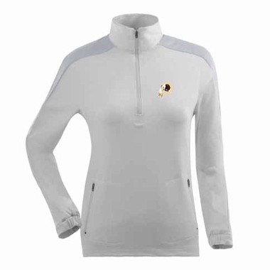 Washington Redskins Womens Succeed 1/4 Zip Performance Pullover (Color: White)