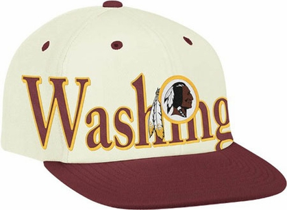 Washington Redskins Team Name and Logo Snapback Hat