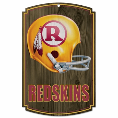 Washington Redskins Throwback Wood Sign
