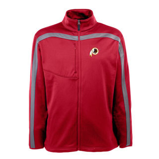 Washington Redskins Mens Viper Full Zip Performance Jacket (Team Color: Black)