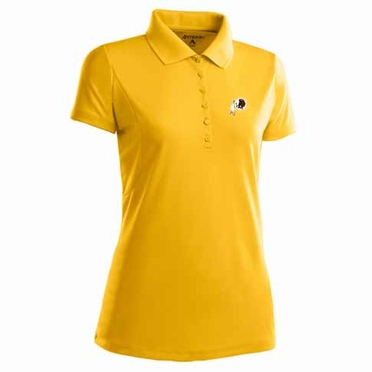 Washington Redskins Womens Pique Xtra Lite Polo Shirt (Alternate Color: Gold)