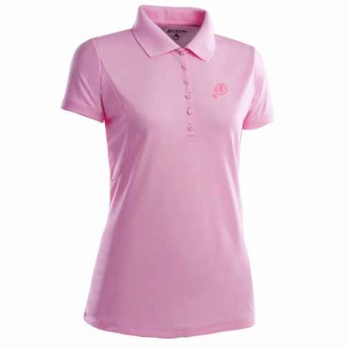 Washington Redskins Womens Pique Xtra Lite Polo Shirt (Color: Pink)