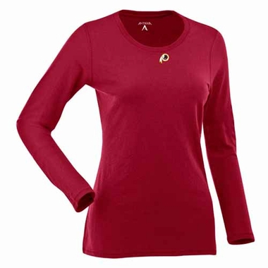 Washington Redskins Womens Relax Long Sleeve Tee (Team Color: Maroon)