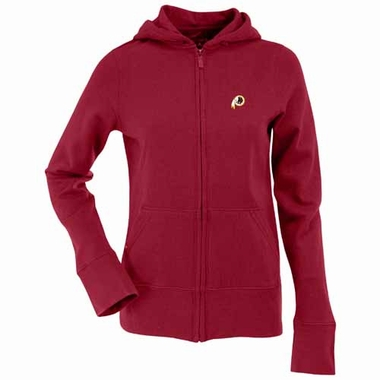 Washington Redskins Womens Zip Front Hoody Sweatshirt (Team Color: Maroon)