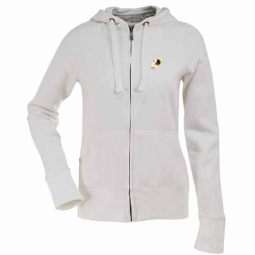 Washington Redskins Womens Zip Front Hoody Sweatshirt (Color: White)