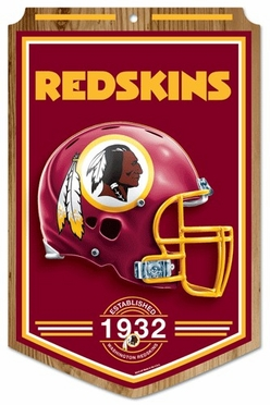 Washington Redskins Wood Sign