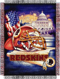 Washington Redskins Woven Tapestry Throw Blanket