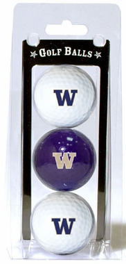 Washington Set of 3 Multicolor Golf Balls