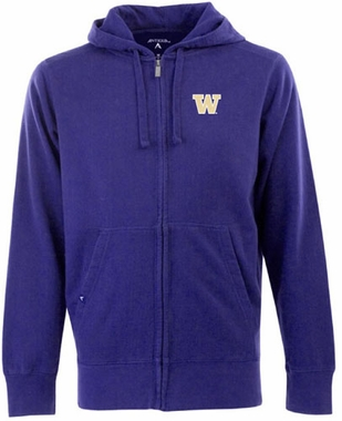 Washington Mens Signature Full Zip Hooded Sweatshirt (Team Color: Purple)