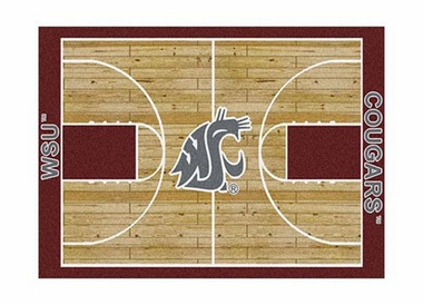 "Washington State 3'10"" x 5'4"" Premium Court Rug"
