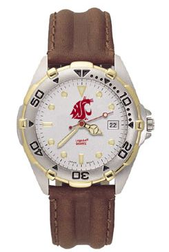 Washington State All Star Mens (Leather Band) Watch