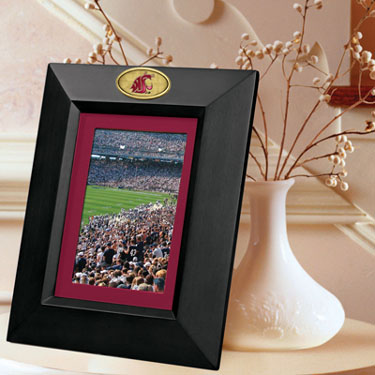 Washington State BLACK Portrait Picture Frame