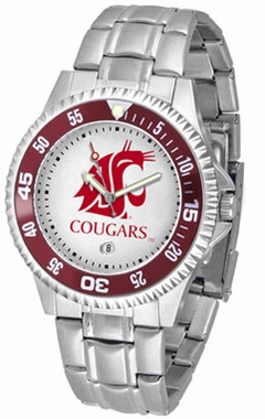 Washington State Competitor Men's Steel Band Watch