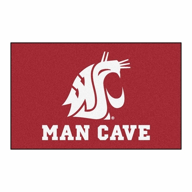 Washington State Economy 5 Foot x 8 Foot Man Cave Mat